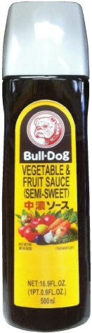 BULL-DOG VEGETABLE & FRUIT SAUCE SEMI-SWEET
