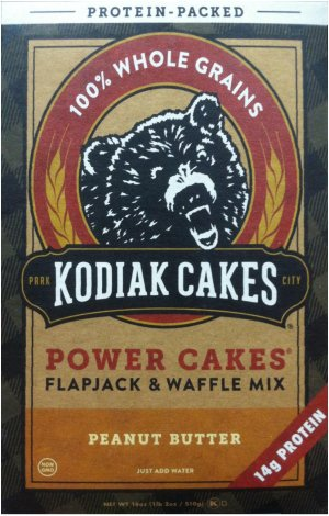 KODIAK CAKES POWER CAKES FLAPJACK & WAFFEL MIX PEANUT BUTTER
