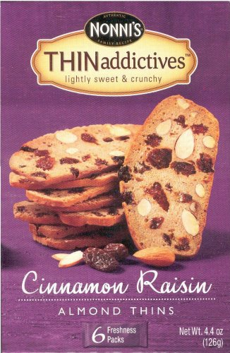 NONNI'S THINaddictives CINNAMON RAISIN ALMOND THINS