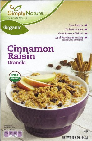SIMPLY NATURE CINNAMON RAISIN GRANOLA